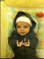 hoodie baby with gang signs funny fail