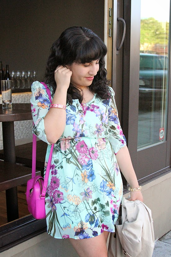 Pinkblush Floral Print Dress