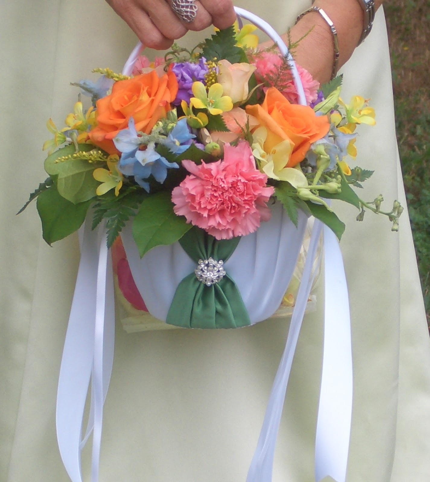 The enchanted petal wedding flowers springtime flower girl basket by stein your florist co izmirmasajfo