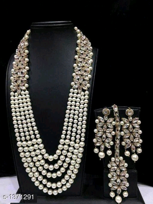 Trendy modern Pearl Jewellery Set S-1371291- Buy Women Jewellery Online from Anywhere