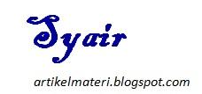 Syair (Pengertian, Ciri-Ciri, Jenis dan Contohnya)