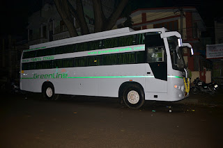 AC Sleeper by Greenline Travels Via Cumbam to Munnar from Bangalore