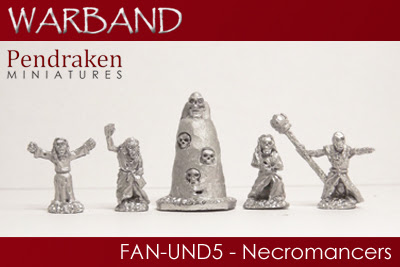 FAN-UND5 - 4 x Necromancers with runestone