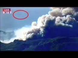 VIDEO: ovni en forma de cigarro fue captado en los incendios en California.