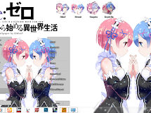 [Theme Win 7] Re:Zero kara Hajimeru Isekai Seikatsu - Ram & Rem by Eldiaz7