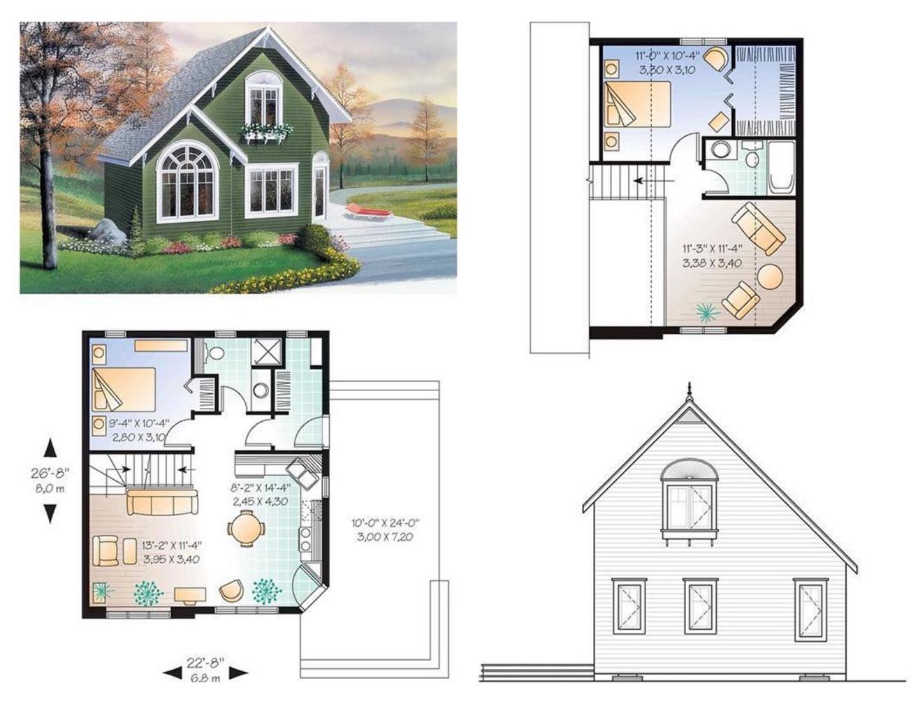 101 planos de casas: Planos de casas de 2 plantas pequeñas