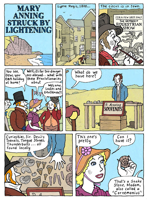 Fossil Comics : Adventures of Mary Anning