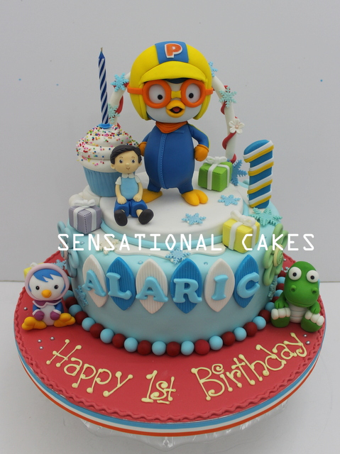 Pororo Penguin Standing Cake Singapore Amazing Detail Figurine With Expression 1st Birthday W Boy Cupcakes Friends Parties