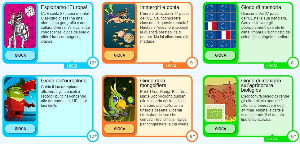 Guamodì Scuola Giochi E Quiz Sull Unione Europea Per Bambini E Ragazzi