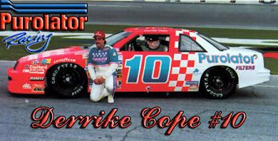 Derrike Cope #10 Racing Champions 1/64 NASCAR diecast blog Bob Whitcomb Derrick age