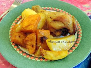 Блюда из курицы и тыквы