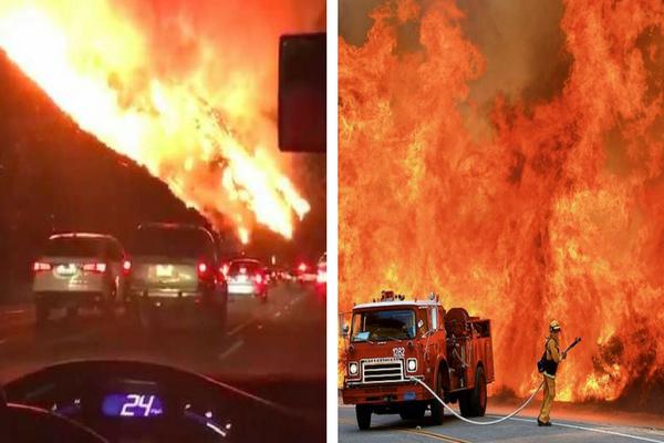 Lagi Musim Dingin, Amerika Bisa Kebakaran Hutan Sebesar ini Layaknya Neraka