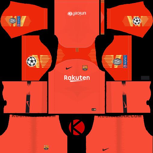 721812e49 F.C. Barcelona 2018 19 Nike Kit - Dream League Soccer Kits - Kuchalana