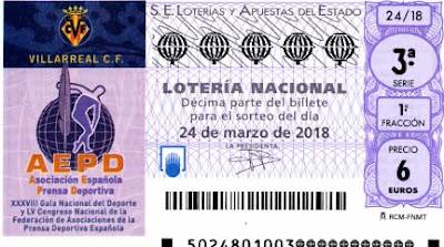 decimos dedicados aepd 24 marzo en la loteria nacional