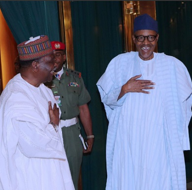 Buhari, Gowon In Aso Rock Closed-door Meeting