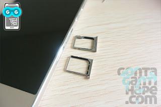 ZTE Blade S7 - Sim card tray ada 2, micro sim dan nano sim (hybrid dengan micro-SD)