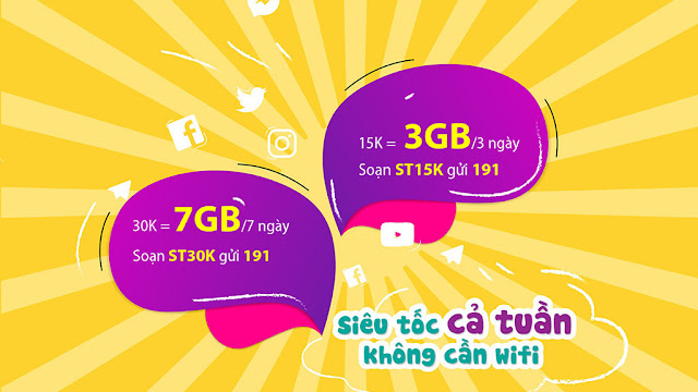 [News] Viettel ra mắt 2 gói Data mới: 15.000VNĐ/3GB/3 ngày và 30.000 VNĐ/7GB/7 ngày