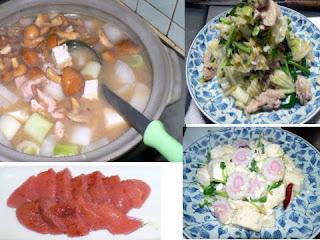 夕食の献立|秋汁 炒め物2種類 明太子