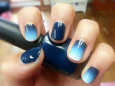 Nail art motif ombre