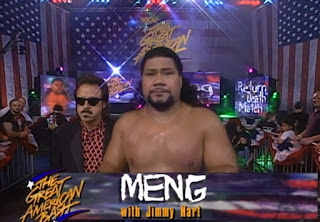 WCW Great American Bash 1997 - Meng with Jimmy Hart