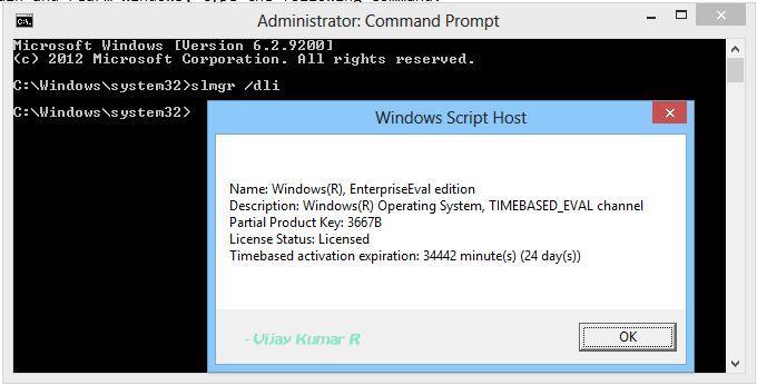 Re-arm Windows 8 Enterprise Evaluation To Extend 90 Days Trial (How