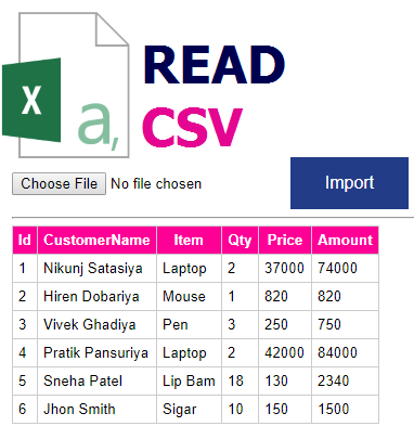 Read CSV File In ASP NET With Example C# and VB NET - Codingvila