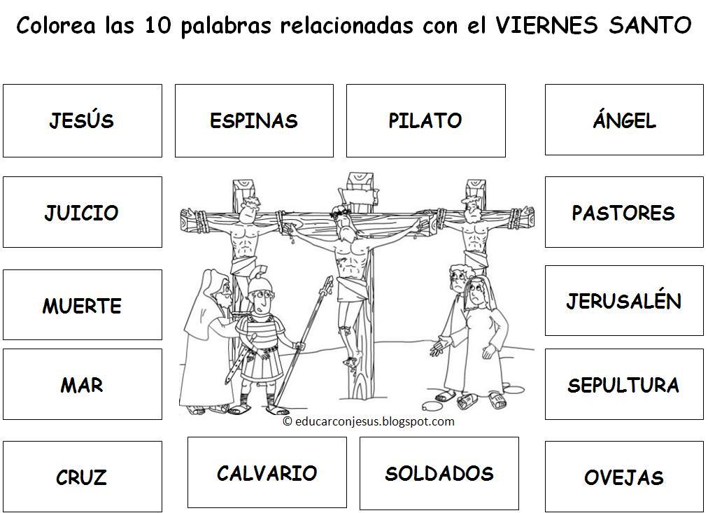 Educar Con Jesús Viernes Santo En 10 Palabras