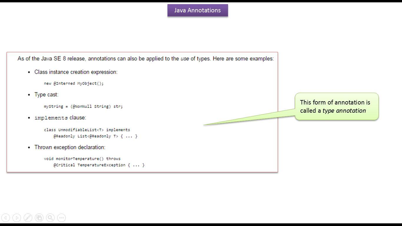 Java ee java tutorial annotations in java java annotations java tutorial annotations in java java annotations the format of an annotations baditri Gallery