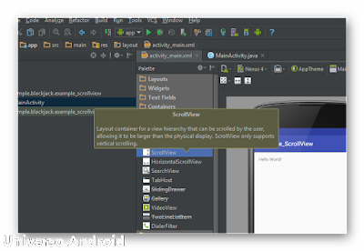 Android Studio - ScrollView