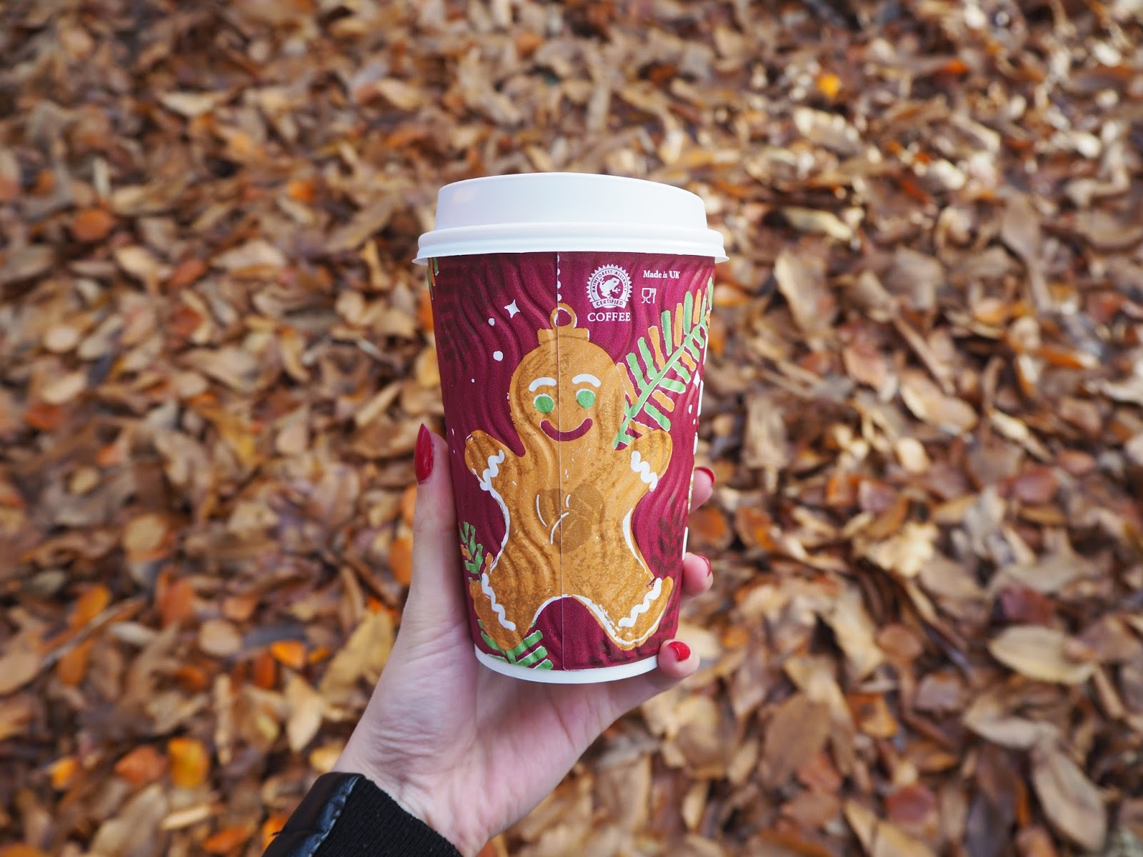 Costa cup with festive print