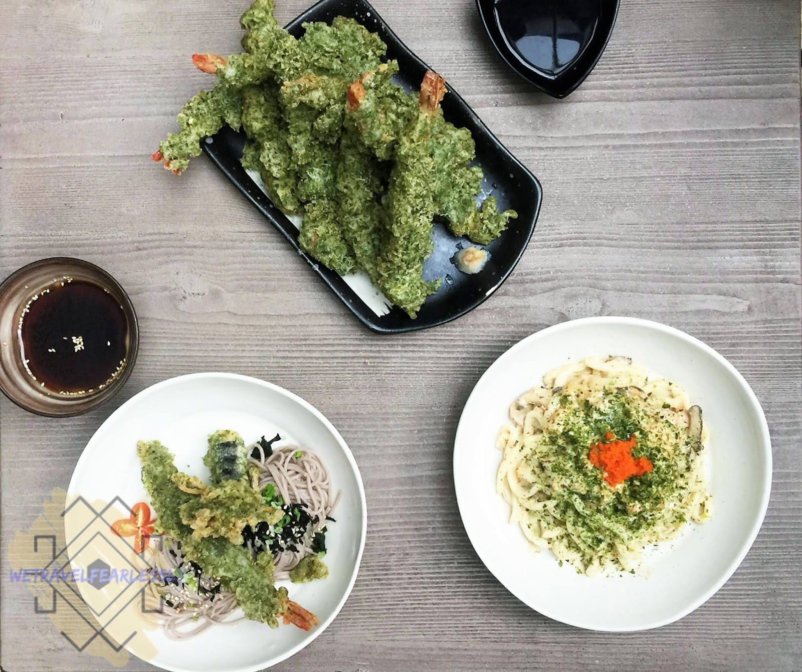 Cold Soba (PHP180), Nori Tempura (PHP360) and Udon Carbonara (PHP450) in Soru Izakaya in Burgos Circle, BGC - WTF Review