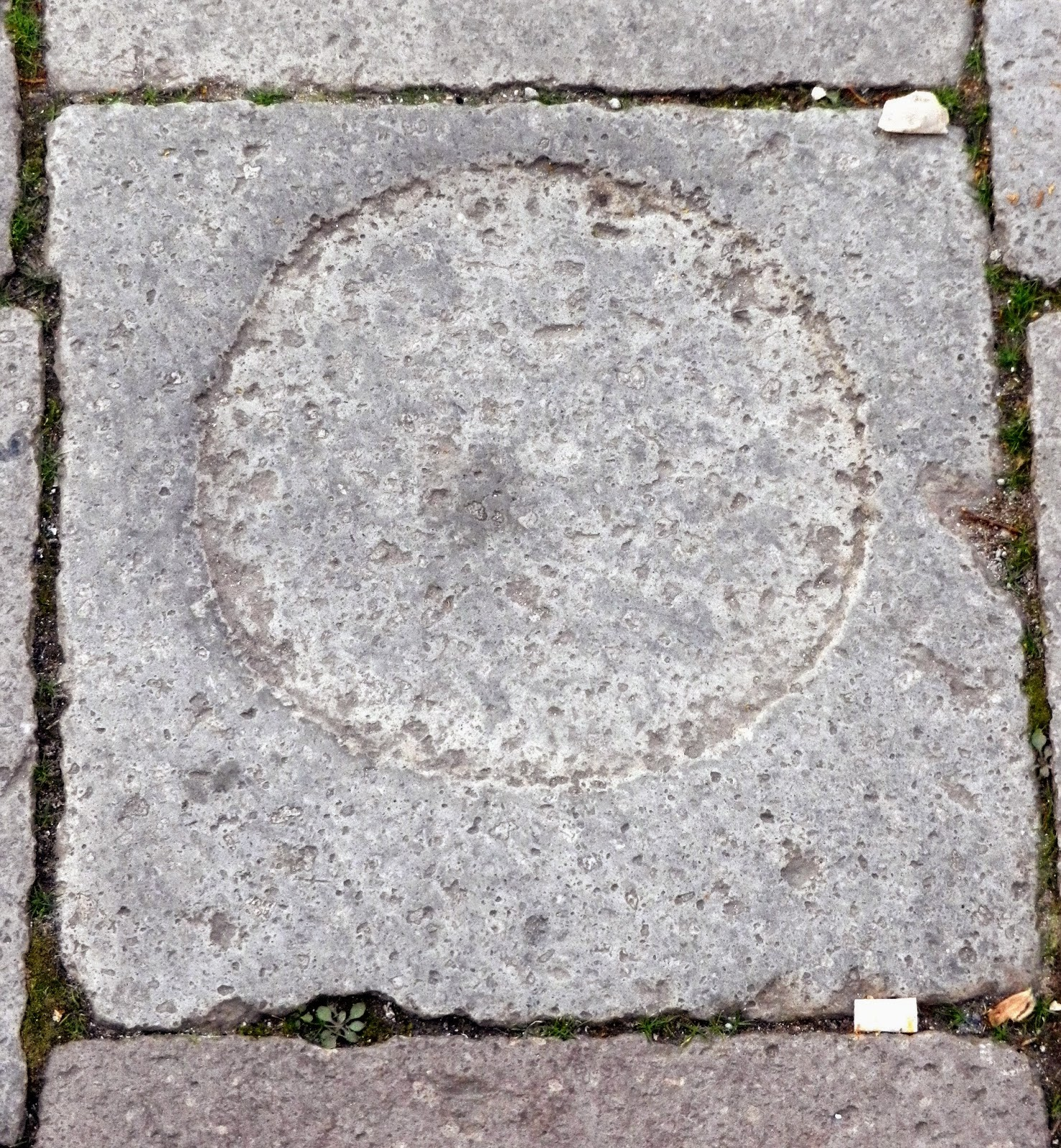 Teriaca and the making of the circular marks in the pavement of the Campo Santo Stefano, Venice