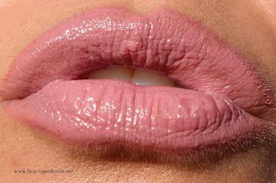 natasha denona rosy nude lip gloss swatch