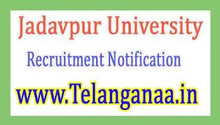 Jadavpur University Recruitment Notification 2017