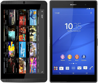 nVidia SHIELD Tablet K1 vs Sony Xperia Z3 Tablet Compact