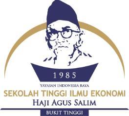 Penerimaan Mahasiswa Baru Sekolah Tinggi Ilmu Ekonomi Haji Agus Salim (STIE HAS) Bukit Tinggi 2019-2020