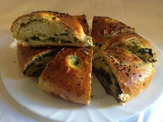Recette du pain farci aux épinards
