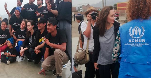 Angelina Jolie viajó a Perú para reunirse con los refugiados venezolanos