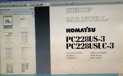 KOMATSU EXCAVATOR SHOP MANUAL PC 228US-3 1