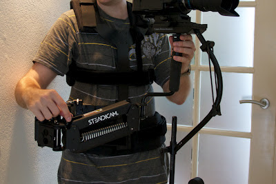 Blackbird stabilizer on the Steadicam Merlin arm and vest