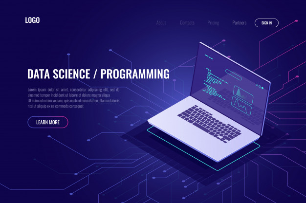 Data science and programming Free Vector