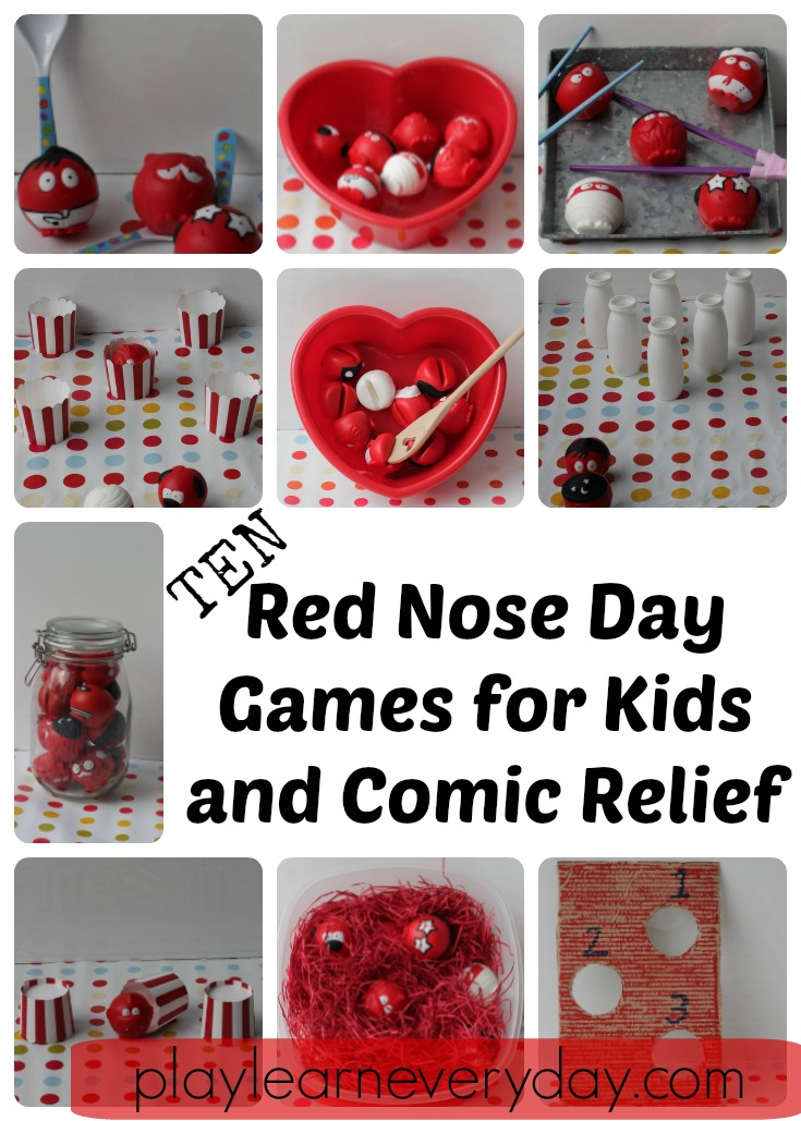 Red Nose Day Games For Kids And Comic Relief Play And Learn Every Day