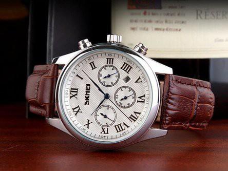 Đồng hồ Skmei 9078 dây da
