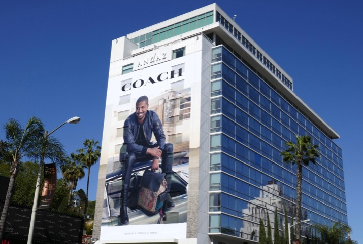 Giant Michael B Jordan Coach billboard