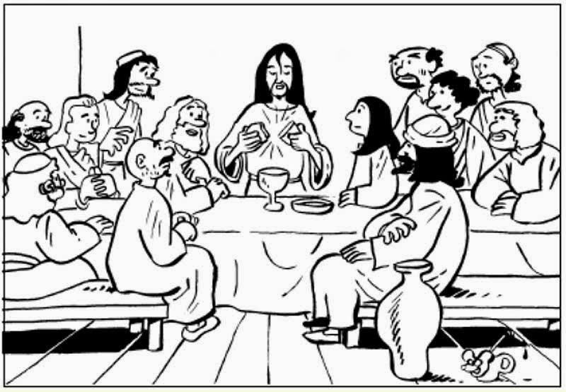 El Renuevo De Jehova: Ultima Cena - Imagenes para colorear ...