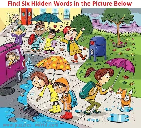 Find Six Hidden Words in the Picture