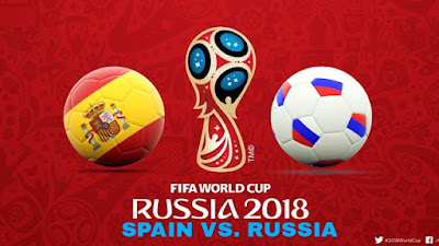 Live Streaming Spain vs Russia Piala Dunia 1.7.2018