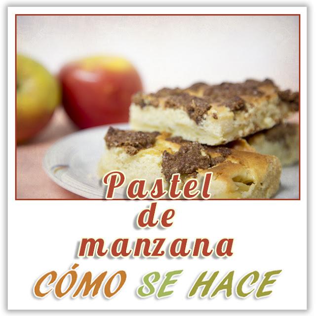 PASTEL DE MANZA...