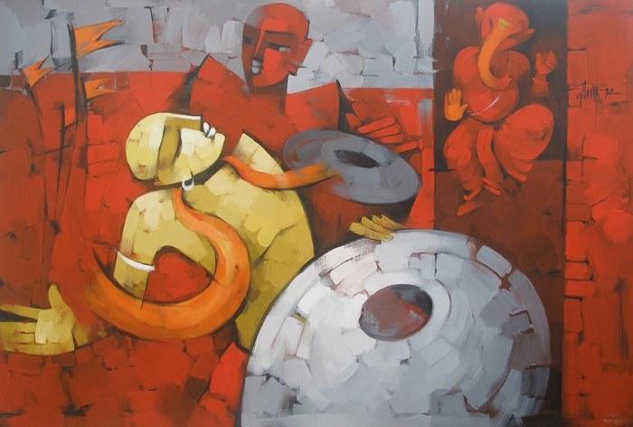 Картины о музыке. Deepa Vedpathak