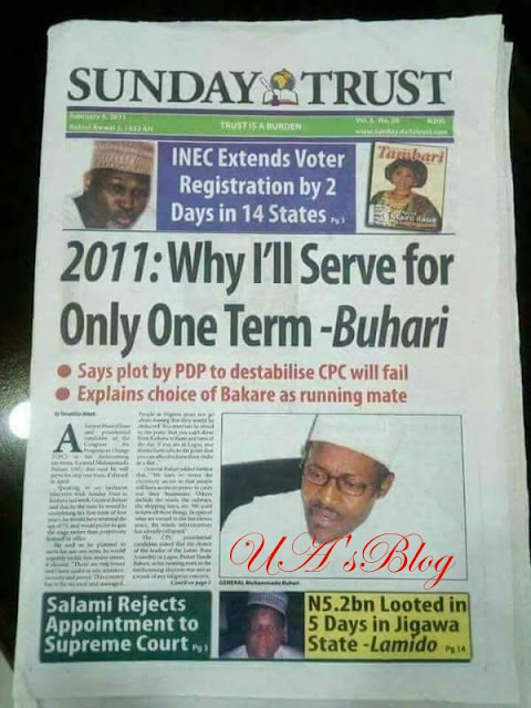 [Throwback] When President Buhari Said He Will Serve Nigeria For Only One Tenure